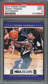 2012-13 panini hoops autograph #250 ISAIAH THOMAS boston celtics rookie PSA 9 Graded Card
