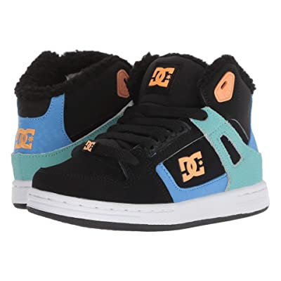 DC Kids Pure High-Top WNT (Little Kid/Big Kid) (Black/Multi/White) Girls Shoes