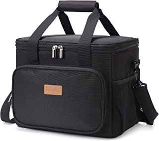 Lifewit Large Lunch Bag 24-Can (15L) Insulated Lunch Box Soft Cooler Cooling Tote for Adult Men Women, Black