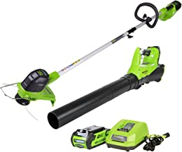 Greenworks G-MAX 40V Cordless String Trimmer and Leaf Blower Combo Pack, 2.0Ah Battery..