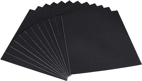 Foam Adhesive Pad, 12 Inch Long X 12 Inch Wide X 1/16 Inch Thick Thin Neoprene Foam Padding Non-Slip Black Sound Damp...