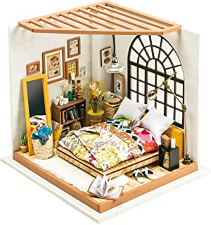 (Alice's Dreamy Bedroom) - Rolife DIY Miniature Dollhouse Kit,Dreamy Bedroom with Furniture,Wooden Dollhouse Kit for Kids,...
