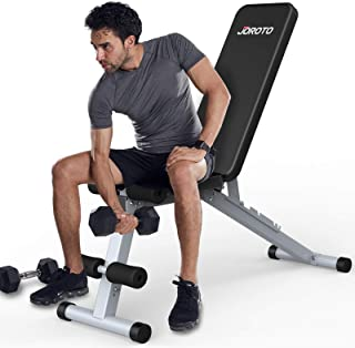 JOROTO Weight Bench Adjustable Strength Training Bench Workout for Full Body Multi-Purpose Foldable Incline Decline Exerci...
