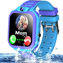 Kids Waterproof Smart Watch Phone GPS Tracker for 3-12 Years Boys Girls 1.54'' Touch Screen Smartwatch SOS Dial Call Micro Chat Camera Anti-Lost Math Game Gizmo Wrist Watch Christmas Birthday Gift
