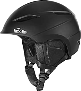 TurboSke Ski Helmet, Snowboard Helmet Snow Sports Helmet, Audio Compatible and Lightweight, ASTM Certified Helmet for Men, Women and Youth