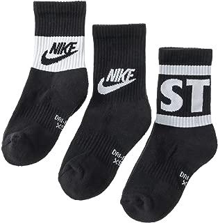 Boy`s Performance Cushioned Dri FIT Crew Socks 3 Pack