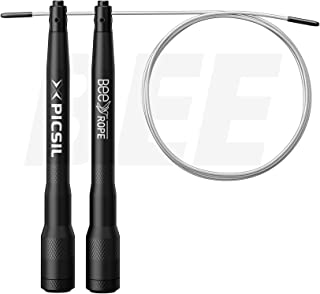 PICSIL BEE Aluminium Jump Rope, Speed Rope, Skipping Jump Rope for Double Unders, Cross Training, Boxing, Fitness. One of ...