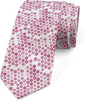 Corbata, escena de flores florecientes, coral oscuro rosa pastel ...