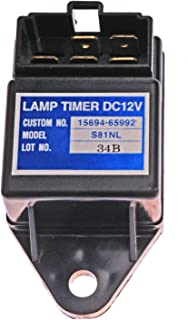 Notonmek Timer Lamp 2V Time Relay Quickglow Timer Light 15694-65990 for Kubota KH-101 KX121-2 KH-151 KH-191 KH-36 KH-41 KH-51 KH-61 KX101 R310 R410 R420 R510 R520