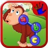 数値文字を教えるし、幼児および若い子供のために適した形ドットのパズル - 就学前の ABC の動物園の動物接続