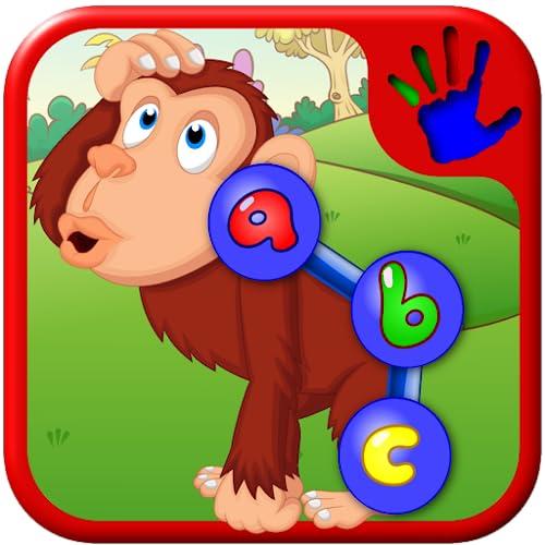 Preescolar ABC Zoo Animal Conecte el punto rompecabezas - enseña números letras y formas adecuados para bebés y niños pequeños