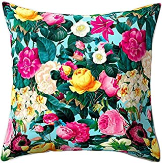Deloito Kissenbezug Deloito Blume Pflanze Muster Kissenbezug Home Decor Qualität Baumwolle Leinen Platz Kissenbezüge Für Auto Sofa P,45x45cm