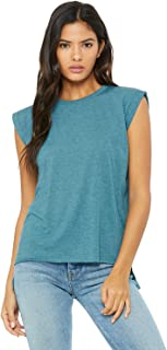 Bella + Canvas Women's Flowy Muscle Tee with Rolled Cuff