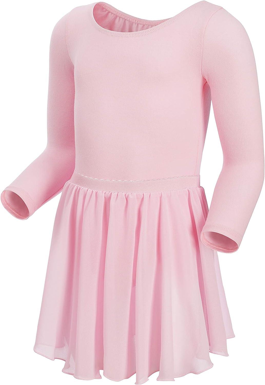 MAGIC TOWN Girls' Classic Long Sleeve Tutu Dress Leotard
