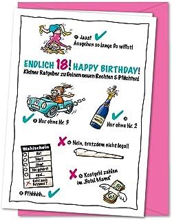 Gelbe Karte Lustig.Suchergebnis Auf Amazon De Für Geburtstagskarte 18 Lustig