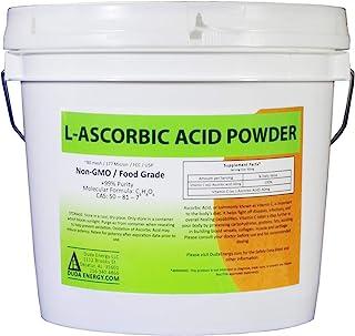 Duda Energy asc8p Pail of L-Ascorbic Acid Powder 99+% Food Grade USP36/BP2012 Naturally Fermented Pure White Crystals Form...