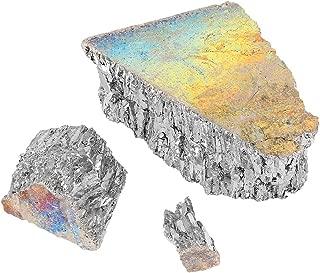 1000g Bismuth Metal Ingot TOPINCN Chunk 99.99% Premium Grade Pure Crystal Geodes for Making Crystals/Fishing Lures