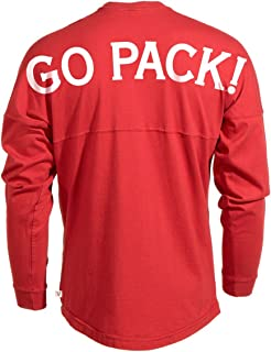 Official NCAA North Carolina State University Wolfpack NC State NCSU Long Sleeve Tri- Blend Football Tee