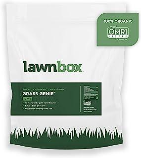 Lawnbox Grass Genie 10-0-6 100% Organic Spring Grass Fertilizer 16 lb Bag Covers 2,500 sq ft