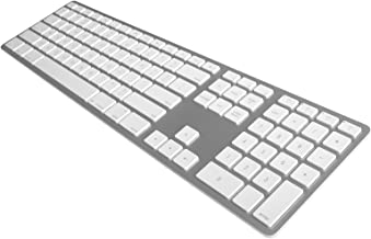 Matias FK418BTS Bluetooth Wireless Aluminum Keyboard with Numeric Keypad and 4-Device Sync - Compatible with Mac, iPhone, iPad, Android and Windows PC (Silver)