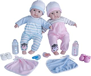 "Berenguer Boutique 30050 TWINS-  15"" Soft Body Baby Dolls - 12 Piece Gift Set with Open/Close Eyes- Perfect for Children 2+"