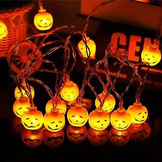 Biilaflor Halloween Pumpkin Lights Lanterns, 32 LED Pumpkin Lights 3D Lantern Halloween Pumpkin Lights Waterproof Decor for Indoor and Outdoor, Patio, Psrty, Festival, Halloween Decorations
