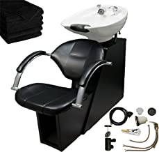 LCL Beauty Professional Adjustable Ceramic Shampoo Backwash Station (White Bowl)
