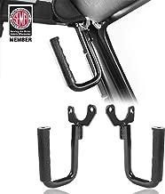 Hooke Road Black Steel Front Grab Handles for 1997-2006 Jeep Wrangler TJ & Unlimited