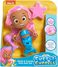 Nick Jr. - Bubble Guppies Splash & Surprise Molly Bath Doll - Hair Magically Changes Colors, Includes Brush & Water Scooper!