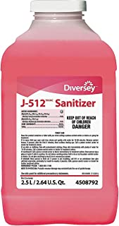 Diversey 5756034 J-512 Sanitizer, 2.5 L, Quaternary, PK2