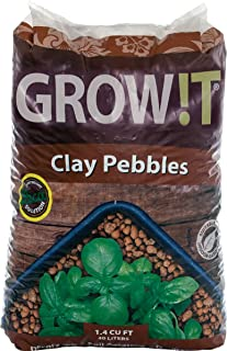 Hydrofarm Growt GMC40l Clay Pebbles, 4mm-16mm, 40 Liter Bag