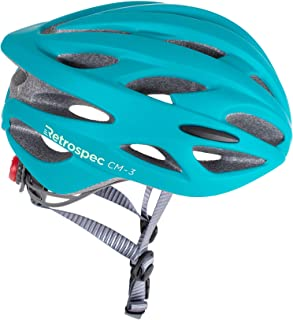 Retrospec CM-3 Bike Helmet with LED Safety Light Adjustable Dial and 24 vents