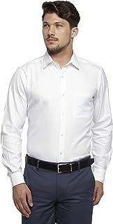 Raymond White Cotton Blend Regular Fit Shirt