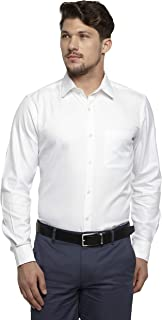 Raymond White Cotton Blend Regular Fit Shirt