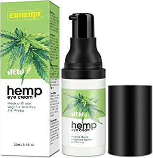 INTENSIVE Hemp Eye Cream Moisturizer, Anti-aging Eye Gel for