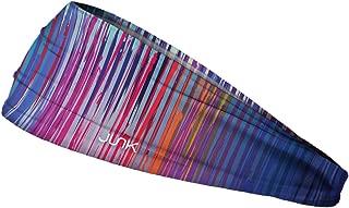 JUNK Brands Black Rock Rave Big Bang Lite Headband,  Blue/Pink,  One Size