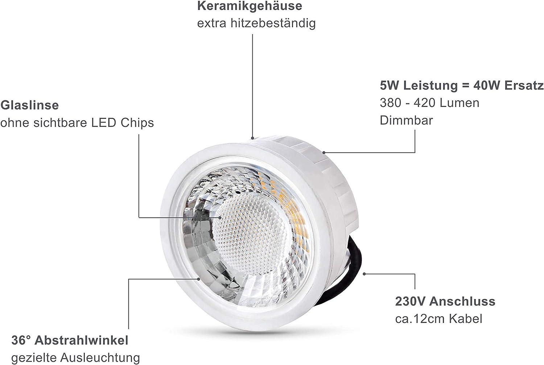lambado® Premium LED Spots IP20 Flach für Badezimmer in Weiss ...