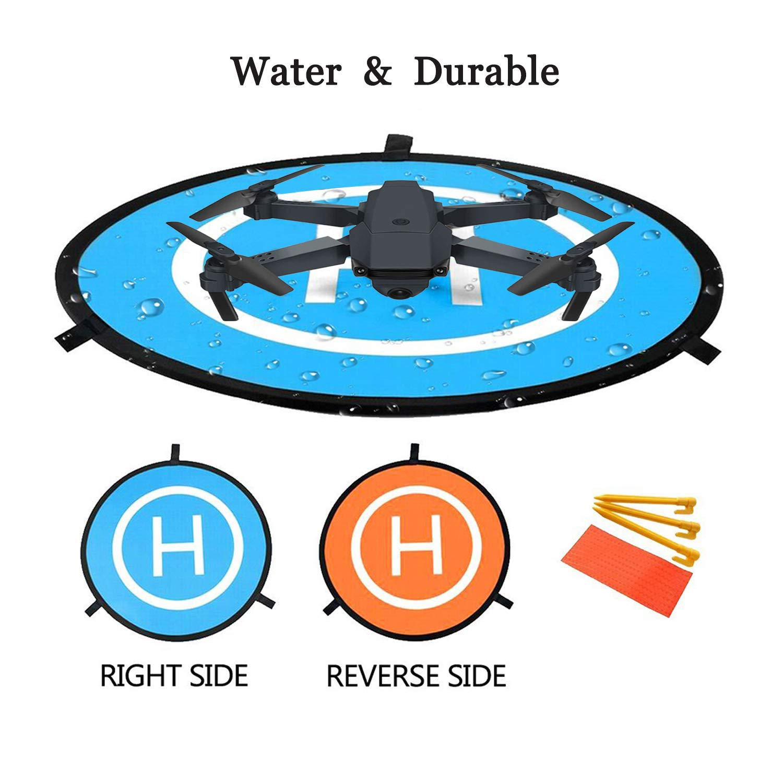 Helic/óptero RC Drone Landing Pad Mavic Pro Chispa 22//55cm Impermeable Helicoptero Plegable Port/átil Landig Mat para DJI Mavic Pro Phantom 2//3//4//Pro Inspire drone Pista de aterrizaje de drones