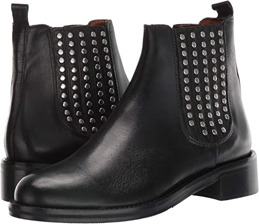 Black Calf/Gunmetal Studs