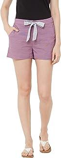 Mystere Paris Classic Textured Lounge Shorts Rayon Loungewear Casualwear Purple F482C