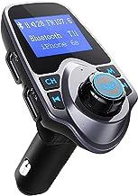 VicTsing Bluetooth FM Transmitter Radio Adapter für IOS Android, Schwarz/Grau