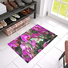 Orchid Orchids Purple Family Flowers Flower Unique Debora Custom Bathroom Accessories Non-Slip Bath Mat Rug Bath Doormat F...