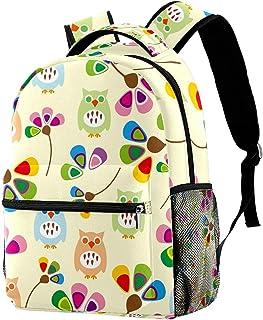 MAPOLO Two Owls Standing On The Branch School Backpack Travel Bag Rucksack College Bookbag Travel Laptop Bag Daypack Bag for Men Women