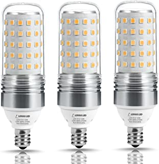 LOHAS LED Candelabra Bulb 100W Equivalent, Light Bulbs E12 Base (12W), 2700K Warm White, 1100LM, LED Corn Bulb for Ceiling Fans Light, Non Dimmable(3 Pack)