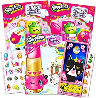 Shopkins Ultimate Coloring and Activity Book Set -- 3 Jumbo Coloring Books with Shopkins Stickers and Bonus Door Hanger