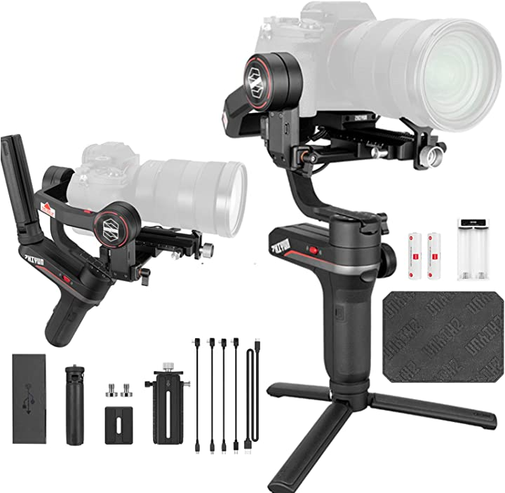 Stabilizzatore gimbal palmare a 3 assi per fotocamere mirrorless, smartphone zhiyun weebill s WEEBILL-S