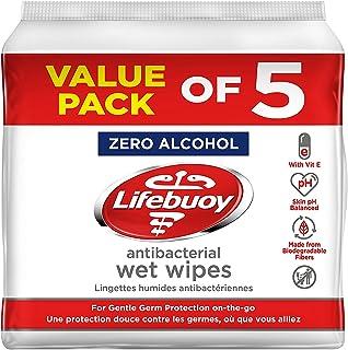 Lifebuoy Antibacterial Wet Wipes 10s - Pack of 5