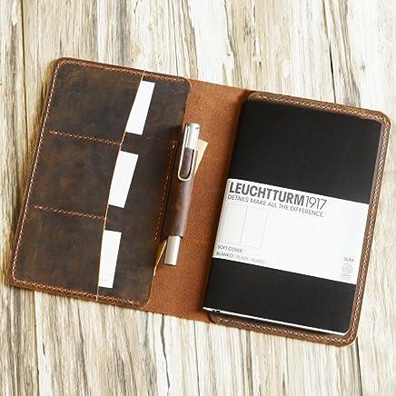 Amazon.com: Distressed Leather Leuchtturm1917 Cover, A5 ...