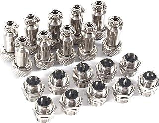 10 set GX16 Aviation Connector Power Plug, 2/3/5/6 Pin 12mm Aviation Plug Male + Female Metalen Socket Connector, voor Sig...