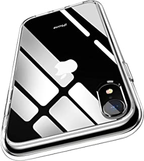 """Meifigno Natural Series iPhone XR Case, [Certified Military Protection][Agile Button], Transparent Hard PC with Soft TPU Bumper, Protective Clear Case Phone Cover for Apple iPhone XR 6.1"""" (Clear)"""